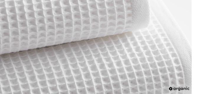 organic waffle towel