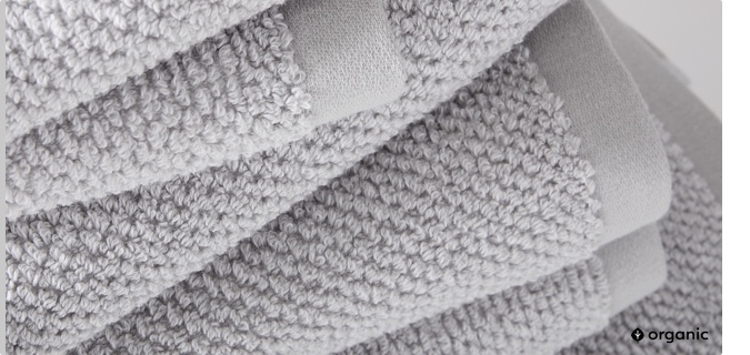 organic heathered towels