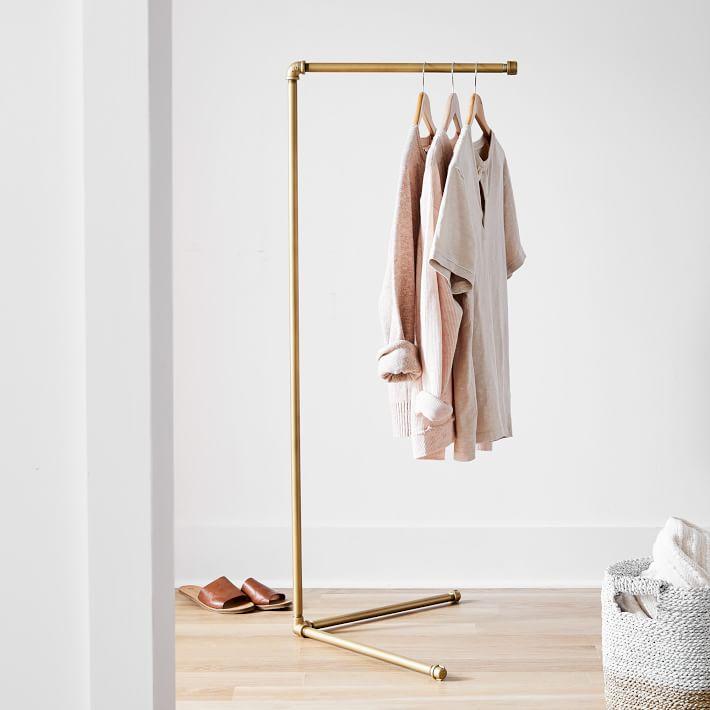 Gold Clothing Rack - Closet Organization Ideas