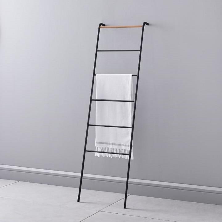 Bathroom Organization Ideas - Ladder Towel Rack