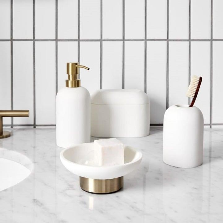 White Bathroom Accessories - Bathroom Storage