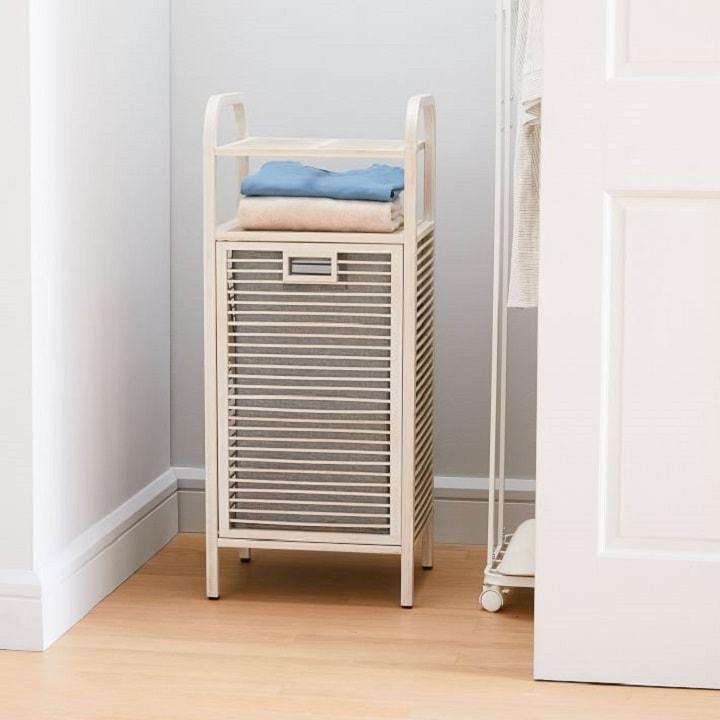 Closet Organization Ideas - Hamper with Shelf