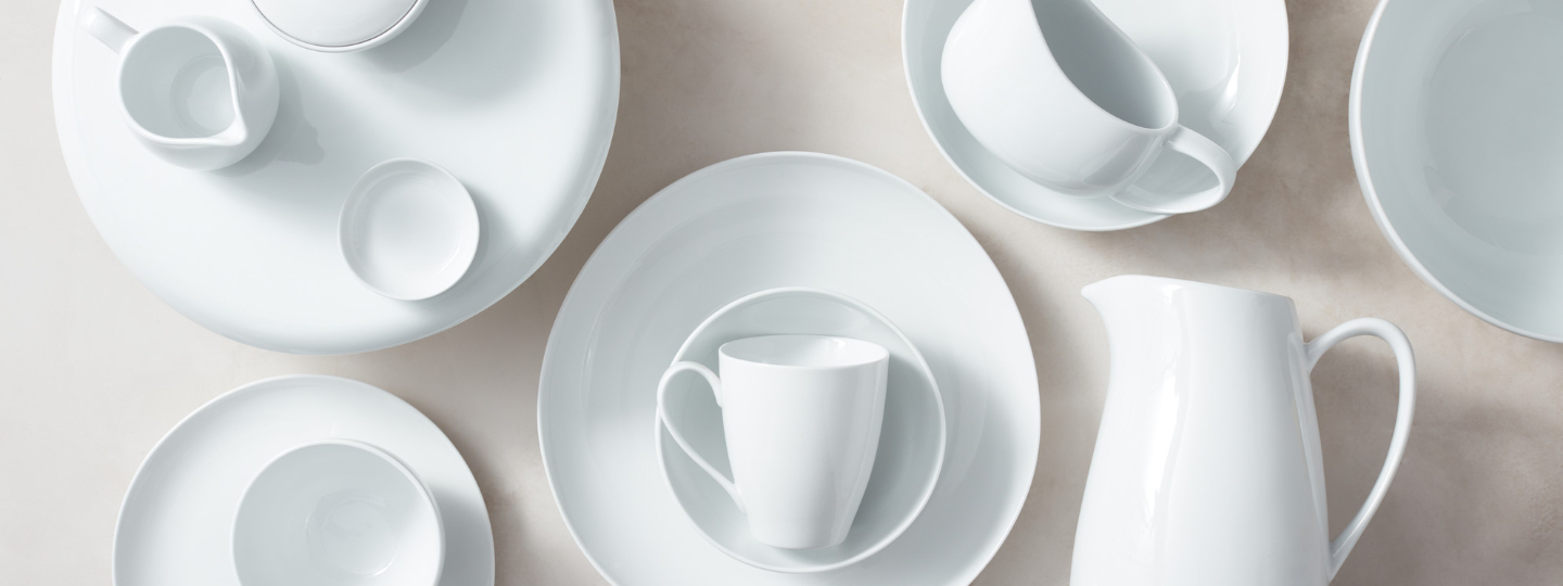 organic shaped dinnerware collection