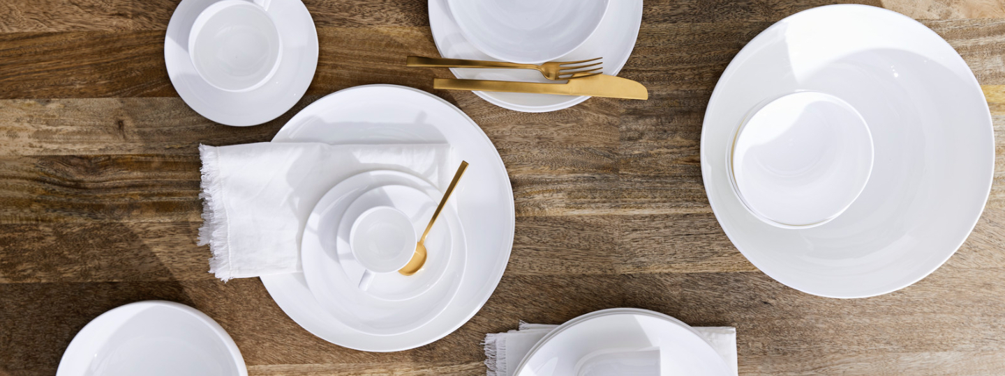 rim bone china dinnerware collection