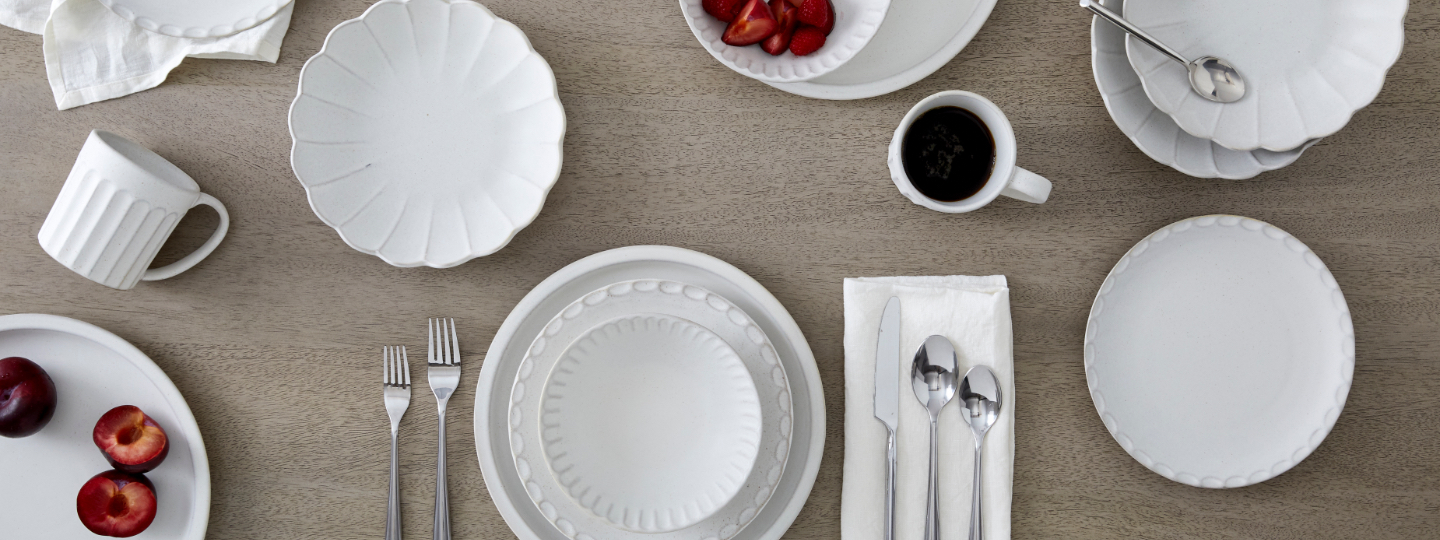 scalloped dinnerware collection