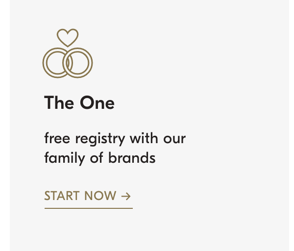 the one: free registry from our family of brands