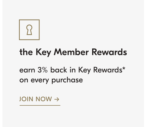earn 3% back in Key Rewards on every purchase