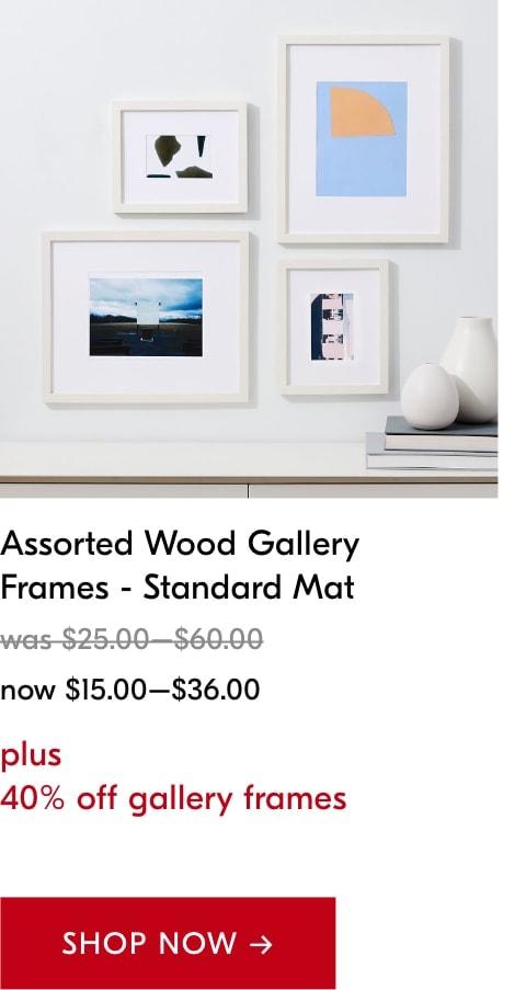 40% off gallery frames