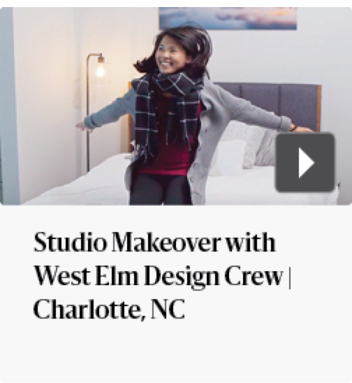 Studio makeover with West Elm Design Crew | Charlotte, NC