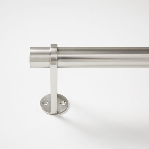 Simple Metal Curtain Rod - White
