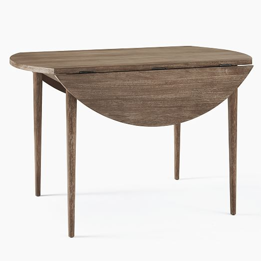 Modern Farmhouse Round Drop Leaf Expandable Dining Table