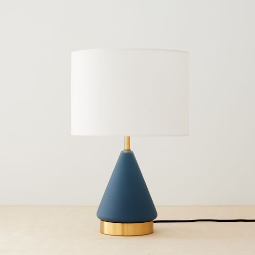 Metalized Gl Usb Table Lamp Small