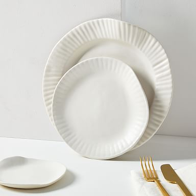 SIN Porcelain Paper Plate - White
