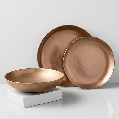 Reactive Glaze Stoneware Dinnerware - Bronze