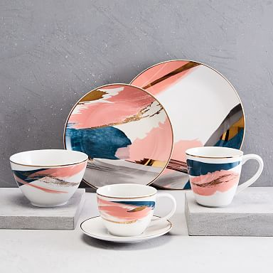 Abstract Brushstroke Dinnerware Set
