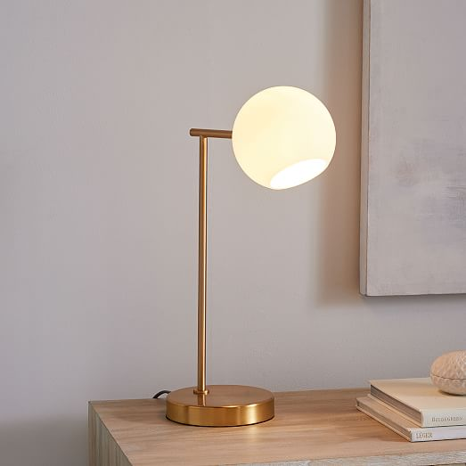 Staggered Gl Usb Table Lamp Milk