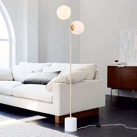 Sphere Stem 2 Light Floor Lamp