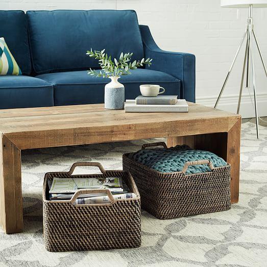 Modern Weave Harvest Baskets W Handles