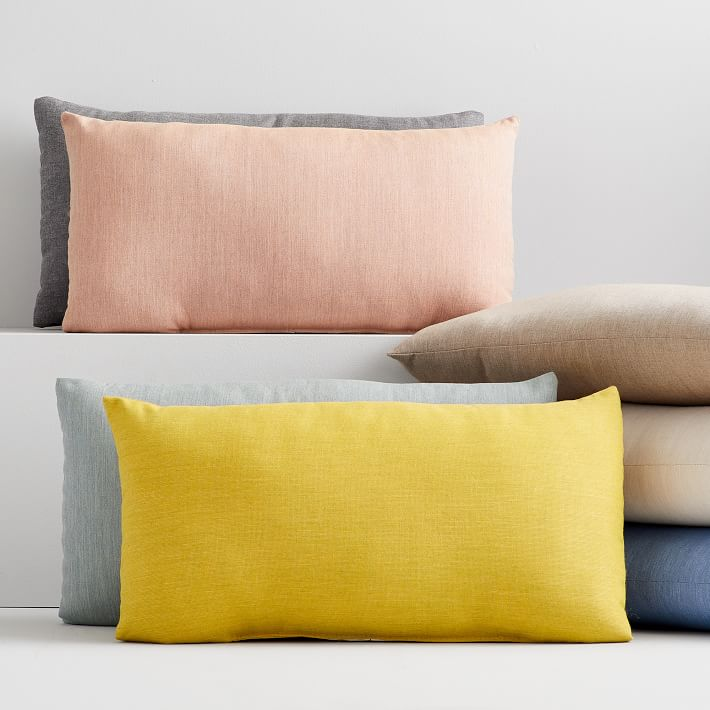 Indoor Outdoor Cast Lumbar Pillows