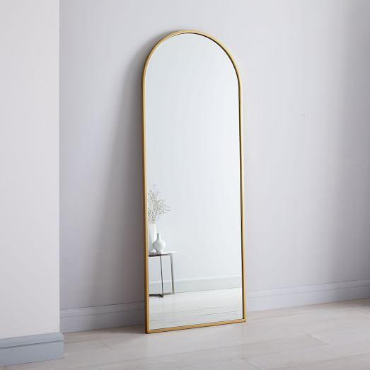 Arched 74 Floor Mirror Antique Br