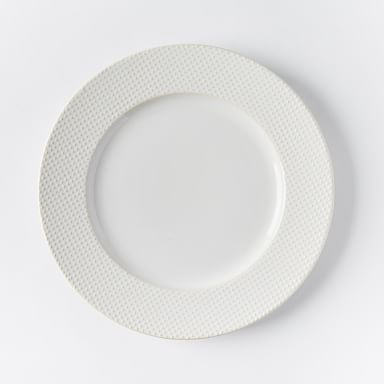 Textured Dinner Plates - White (Dots)