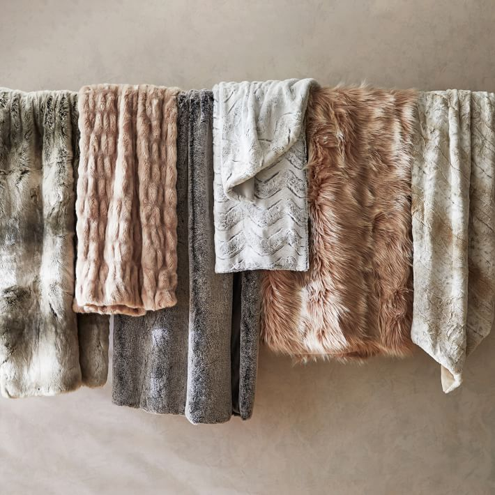 Shop Faux Fur Throws from West Elm on Openhaus
