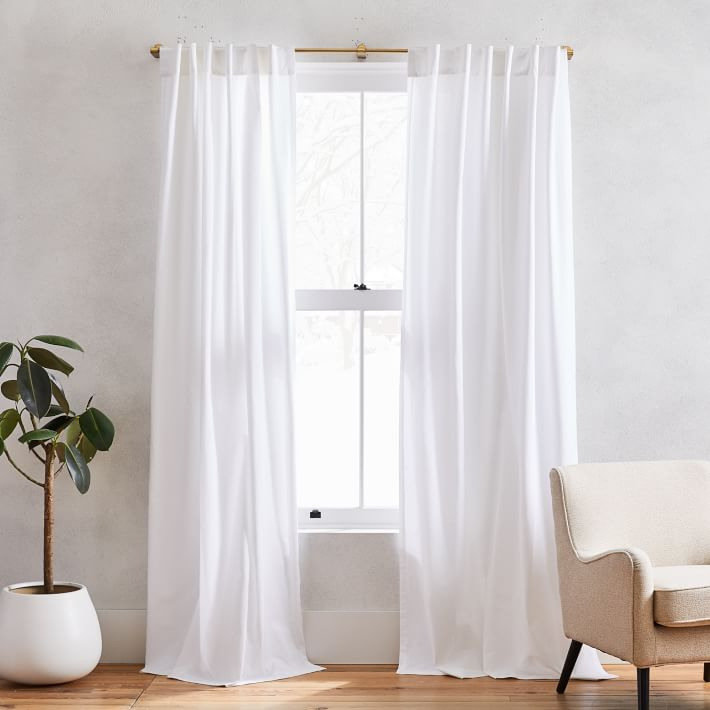 Cotton Canvas Curtain White