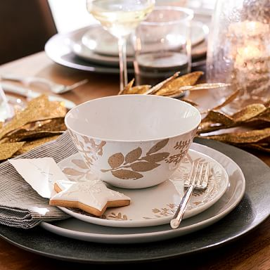 Richmond Stoneware Dinnerware Collection - Wax Resist