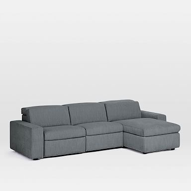 Enzo 3-Piece Reclining Chaise Sectional w/ Storage