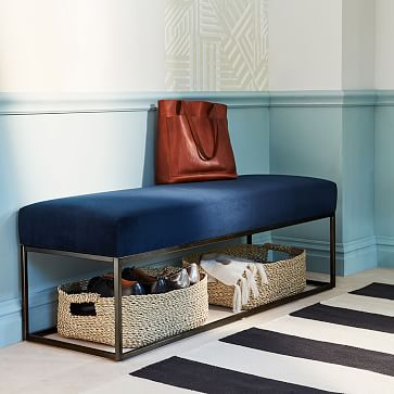 Box Frame Upholstered Bench West Elm
