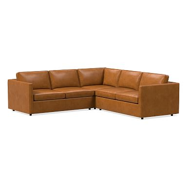Harris Leather 3-Piece L-Shaped Sectional