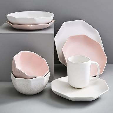 Gemstone Stoneware Dinnerware - Ice White