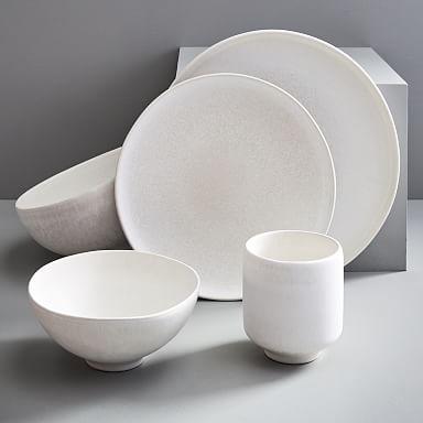 Kanto Matte Glaze Dinnerware - Ice White