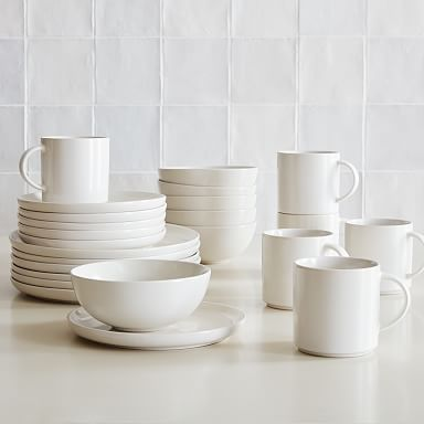 Coupe Stoneware Dinnerware (Set of 24)