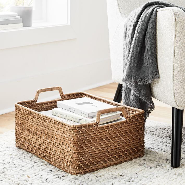 Shop Modern Weave Harvest Baskets w/ Handles from West Elm on Openhaus