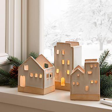 Ceramic Tealight Houses