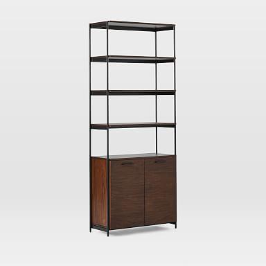 Foundry Wide Bookcase - Dark Walnut