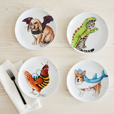 Dapper Animal Halloween Costume Plates