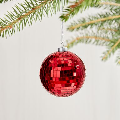 Disco Ball Ornaments - Red