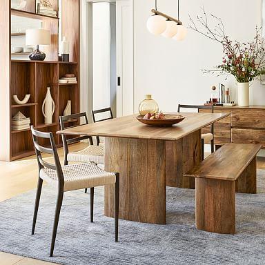 Anton Solid Wood Dining Table - Burnt Wax