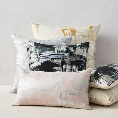Painterly Brocade Pillow Cover