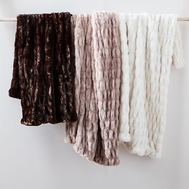 Faux Fur Cascade Throw