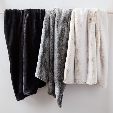 Faux Fur Chinchilla Throw