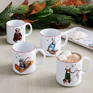 Dapper Animal Holiday Mug
