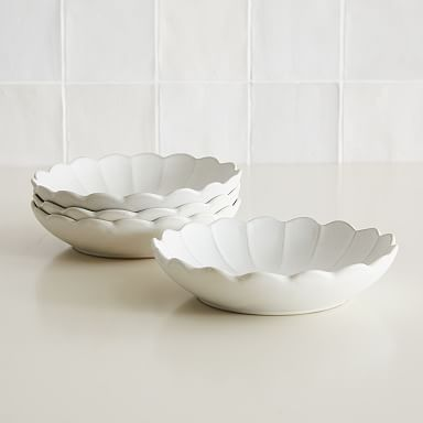Curated Stoneware Scalloped Pasta Bowl