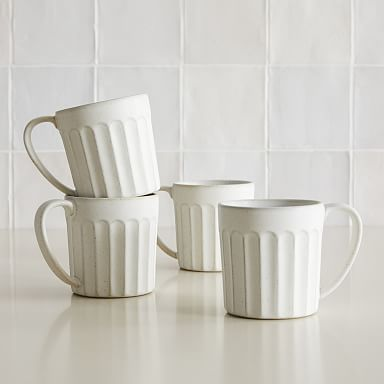 Curated Stoneware Scalloped Mug