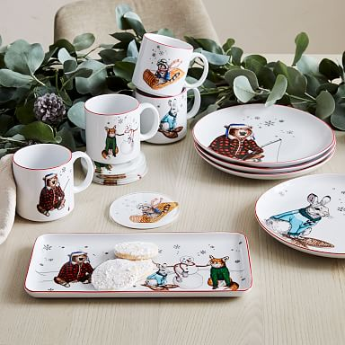 Dapper Holiday Animal Dinnerware Collection