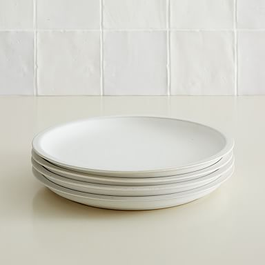 Curated Stoneware Scalloped Dinner Plates (Set of 4)
