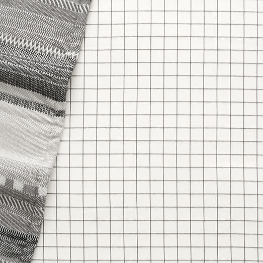 Windowpane Plaid Flannel Crib Fitted Sheet