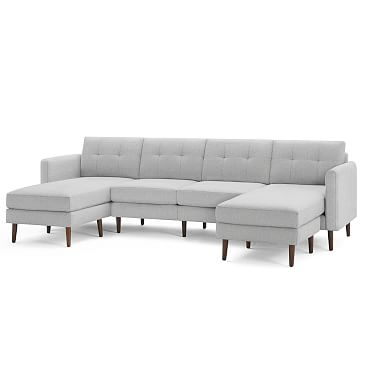 """Burrow Nomad King Sectional with Double Chaise (112"""")"""